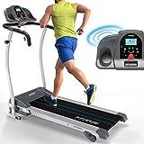 Kinetic Sports Laufband 1100 Watt 12 Trainingsprogramme fr GEH- u. Lauftraining, integrierte Lautsprecher, stufenlos einstellbar bis 12 km/h klappbar