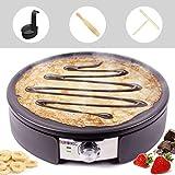 Duronic PM152 Crepe Maker   1500 Watt   mit 37 cm Antihaftplatte   Teigverteiler, Wender und Messbehälter   Antihaftbeschichtung   Crepegerät für Pfannkuchen, Pan Cakes, Omeletts, Palatschinken