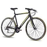 CHRISSON 28 Zoll Rennrad Fitnessrad AIRWICK mit 24G ACERA schwarz, Rahmengröße:53cm