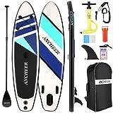 Aufblasbares Stand-Up-Paddle-Board, Allround-SUP-Board mit Premium-SUP-Zubehör, einschließlich Rucksack, Bodenflosse zum Paddeln, wasserdichte Tasche, Spulenleine, verstellbares Paddel und Handpumpe