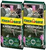 Floragard Kakteenerde 2x5L - für alle Kakteen und sukkulenten Pflanzen - schonend aufgedüngt - mit reinem Quarzsand