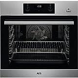 AEG BEB355020M Einbau-Backofen / SteamBake mit Feuchtigkeitszugabe / Reinigung mit Wasserdampf / Touch-Bedienung / Grillfunktion / Display mit Uhr