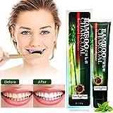 Luckyfine Bamboo charcoal Zahnpasta, Activated Charcoal Teeth Whitening Toothpaste, Intensivreinigung zahnpastatube Whitening Zahnpasta, Schlechten Atem, Zahnflecken entfernen, Zahnaufhellung Zähne
