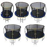 Zero Gravity Garten-Trampolin Ultima 4 fr Kinder, mit Sicherheitsnetz und Leiter, blau/gelb, 244 cm