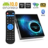 【Update 2020】 Android TV-Box 10.0, 4 GB RAM / 32 GB ROM H616 Quad-Core T95 YAGALA Android-Box, 2,4 / 5,0 GHz Dual WiFi 100 M Ethernet H.265 6K Ultra HD / 3D Bluetooth 5.0 Smart TV Box