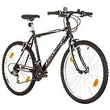 Multibrand PROBIKE 26 Zoll Mountainbike Shimano 18 Gang, Herren-Fahrrad & Jungen-Fahrrad, geeignet ab 165-183 cm (Schwarz)