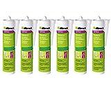 6x Illbruck LD703 Maleracryl für feuchte und saugende Untergründe, überstreichbar überputzbar für Innen und Aussen 310ml Weiss