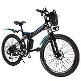 ANCHEER E-Bike/Elektrofahrrad/E-Mountainbike, 26 Zoll faltbar E-Klapprad mit doppelten Stoßdämpfung und Pedelec mit 8Ah-36V Akku für eine Reichweite von 25-60km (Black-S)