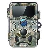 APEMAN Wildkamera 20MP 1080P mit 16GB SD-Karte, 120° Erkennungsreichweite 116° Weitwinkel Linse, 65ft Auslöser Entfernung Jagd Kamera für Hausüberwachung und Beobachtung von Wildtieren