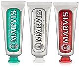 MARVIS® 3 Flavours Box | 3 x 25ml (75 ml) | Whitening Mint, Cinnamon Mint und Classic Strong Mint | Das perfekte Zahncreme-Trio | intensive und anhaltende Frische in 3 spannenden Geschmacksrichtungen