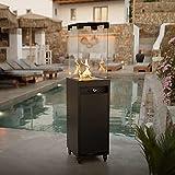 Planika Faro – Terrassenheizer Gas schwarzer, tragbarer und freistehender, Propan Heizpilz für Ihren Garten und Terrasse