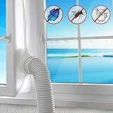 AGPTEK Fensterabdichtung für Mobile Klimageräte, Klimaanlagen, Wäschetrockner, Ablufttrockner, Stop Heiβluft zum Anbringen an Fenster, Dachfenster, Flügelfenster, Fensterabdichtung Klimaanlage 400cm