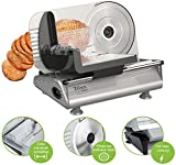 Brotschneidemaschine | Brotschneider | Bread Slicer | Allesschneider | Schneidegerät | 150 Watt | Edelstahlklinge Ø190 mm | Schneidestärke 0-15 mm |