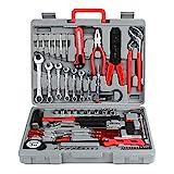 FIXKIT Werkzeugset im Koffer Werkzeugkoffer Werkzeugkasten für den Haushaltsbereich Universal-Haushalts-Werkzeugkoffer (555 teilig)