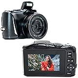 YinFun Digitalkamera Fotoapparat Digitalkamera 2.7K Full HD Kompaktkamera 48 Megapixel Minikamera mit 3-Zoll-Bildschirm Schwarz