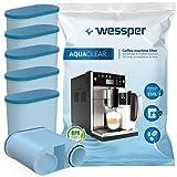 Wessper 6er Pack AquaClear Wasserfilter Für Saeco und Philips Kaffeevollautomat AquaClean CA6903/10 CA6903/22 CA6903 Kalkfilter, WES040