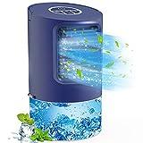 Mobiles Klimagerät, TedGem Air Cooler Mini, Mini Klimaanlage Luftkühler, Klimagerät Luftkühler, Air Cooler Klimagerät, 7 LED-Leuchten, 3 Geschwindigkeiten mit Tragbarem Griff für Zuhause und Büro