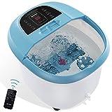 Fußbad Massagegerät mit Drahtloser Fernbedienung und 8 Automatischen Shiatsu-Massagerollen, Heizungs Temperaturregelung, Blasen und Vibration für den Heim und Bürogebrauch
