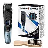 Remington Barttrimmer Herren B5 Lithium (Netz-/Akkubetrieb, Micro-USB Ladefunktion, Aufbewahrungstasche, 17 Längeneinstellungen 0,4-18mm) Haarschneidemaschine, Bartschneider MB5001