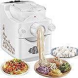 Kacsoo Elektrische Nudelmaschine, Automatische multifunktionale Haushalt Nudelmaschine für den Haushalt mit 9 + 3 Nudelformen zur Auswahl von Spaghetti Penne oder Dumpling.