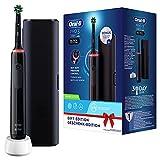 Oral-B PRO 3 3500 Elektrische Zahnbürste/Electric Toothbrush, mit visueller 360° Andruckkontrolle für Zahnpflege, Reiseetui, Designed by Braun, schwarz