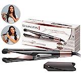 Remington Haarglätter 2-in-1 Curl&Straight, geschwungene Stylingplatten zum Glätten, Locken & Wellen (digitales Display + 5 Temperatureinstellungen 150-230°) Glätteisen & Lockenstab S6606