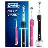 Oral-B PRO 22950N Elektrische Zahnbürste, für extra Zahnfleischschutz dank visueller Andruckkontrolle, mit 2. Handstück, pink und schwarz