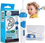 Ohrenschmalz entferner,Q Grips Ohrenschmalz Entferner, Elektrisch Ohrenschmalz Entferner Ohrenreiniger mit 2 Waschbaren Ersatzköpfen, Ohrwachs Entfernungs Tool Geeignet Für Kinder und Familie