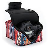 USA GEAR DSLR Kameratasche für Spiegelreflexkameras, SLR-Kamerahülle mit Neoprenschutz, Gürtelhalfter und Zubehör - Kompatibel mit Nikon D3400, Canon EOS Rebel SL2, Pentax K-70 & mehr - Sudwesten