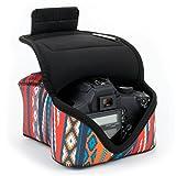 USA Gear Kameratasche fr Spiegelreflexkameras: Kamera-Schutzhlle aus hochwertigem Neopren fr DSLR/SLR, Bohemian-Muster & Zubehrtasche, Kompatibel mit Canon EOS 1300D/200D, Nikon D3400 und mehr