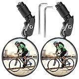 ZITFRI Fahrradspiegel 1 Paar - Rückspiegel für Lenker 2 Stück verstellbar 360 Grad Fahrradrückspiegel für 17,4 - 22 mm Flacher Fahrradlenker Spiegel für Ebike Rennräder Mountainbikes, Weitwinkel