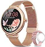 NAIXUES Smartwatch Damen, Fitness Tracker IP67 Wasserdicht, Fitnessuhr mit Aktivitätstracker Pulsuhr Stoppuhr Schlafmonitor Schrittzähler Uhr, Smartwatch für Android iOS Handy