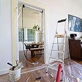 ONEST Staubschutztür (2er Set) - Premium Staubschutzwand mit 2-seitigem Reisverschluss inkl. Klebeband & Fixierungshilfe - Staubschutz für Türmaße bis 2,11 x 1,10m