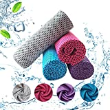 Cool Towel-kühltücher(4 Farben),mikrofaser kühlendes Handtuch Outdoor,cool down Towel für Sommer Perfekt als Sporthandtuch Camping,für Fitnessstudios/Joggen/Yoga/Golf/Fitness/ Strand.