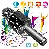 SunTop Bluetooth Karaoke Mikrofon,Mikrofon Stereo Player,Bluetooth Lautsprecher für Musik spielen KTV,Party, Lautsprecher für PC, Laptop, iPad, und Android/IOS oder Alle Smartphone