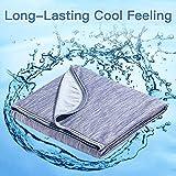 Marchpower Kühldecke Mikrofaser Sommerdecke Selbstkühlende aus Baumwolle Decke 2 in 1 doppelseitig Wohndecke Sofadecke Reisedecke(170 * 130cm blau)