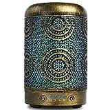 SALKING Aroma Diffuser Luftbefeuchter Humidifier, Handgefertigt Metall Diffusor für ätherische Öle, Automatisch Power-Off, 7 Farbe Licht Vintage Aromatherapie für Baby, Zuhause Büro oder Yoga