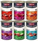 animonda Gran Carno adult Hundefutter, Nassfutter für erwachsene Hunde, Herzhafte Variation, 6 x 400 g