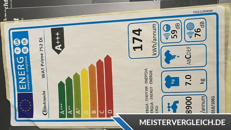 Bauknecht WAT Prime 752 Di Energieeffizienzklasse