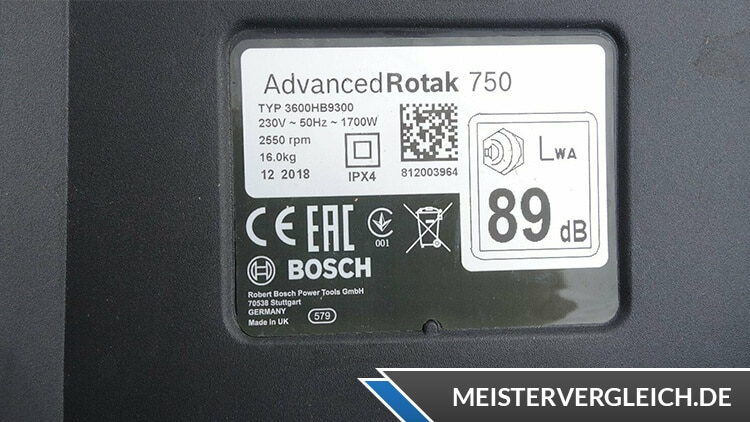Bosch AdvancedRotak 750 Datenblatt