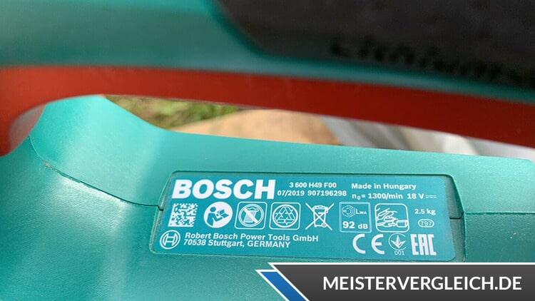 Bosch AHS 50-20 LI Datenblatt