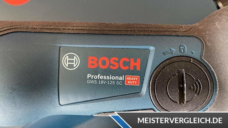 Bosch GWS 18-125 V-Li Datenblatt