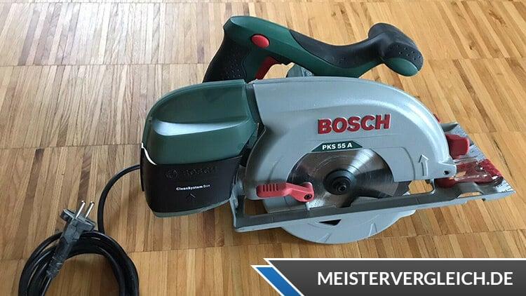 Bosch Handkreissäge PKS 55 A HomeSeries Test