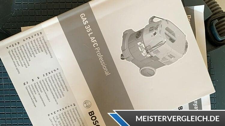 Bosch Professional GAS 35 L SFC plus Anleitung