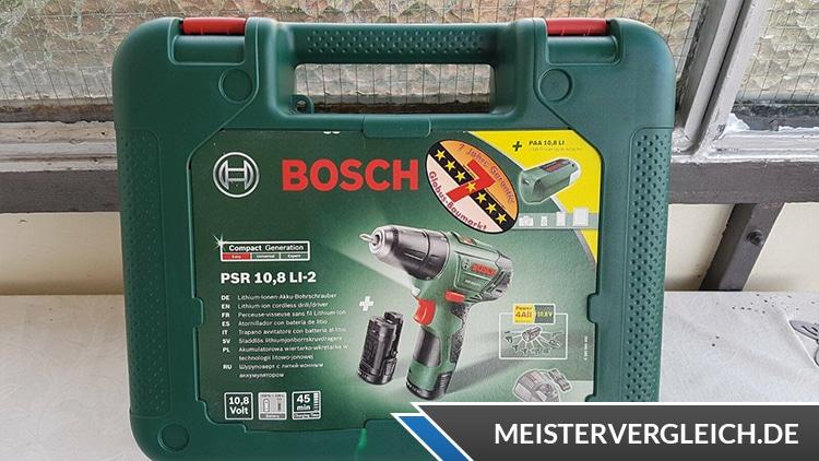 Bosch PSR 10,8 LI 2 Akkuschrauber Box Vorderseite
