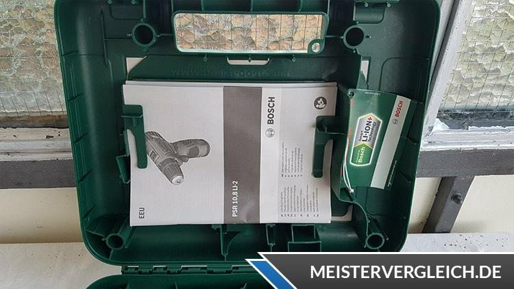 Bosch PSR 10,8 LI 2 Handbuch