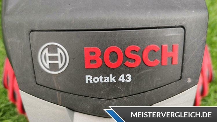 Bosch Rasenmäher Rotak 43 Vorderansicht