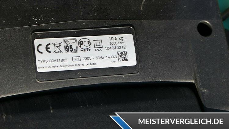Bosch Rotak 37 Rasenmäher Datenblatt