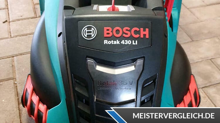 Bosch Rotak 430 LI Praxistest