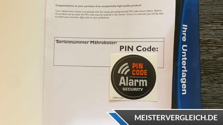 Husqvarna Automower 310 Diebstahlsicherung mit PIN-Code
